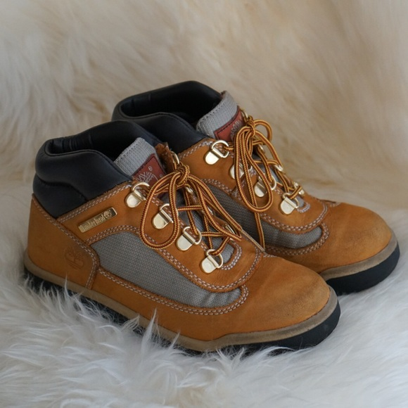 adc955d1c57 Timberland kids fabric/leather field boots
